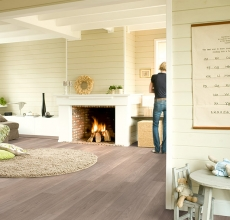 Light grey varnished oak, planks